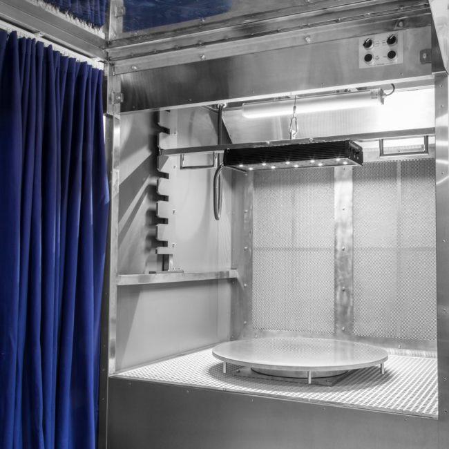 Поворотный стол для кабины капиллярного контроля Элитест КМ-1000