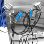Пистолеты для нанесения пенетранта и проявителя в кабине капиллярного контроля Элитест КМ-1000