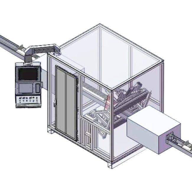 Рентгенотелевизионная система контроля протяженных тонкостенных чехлов X.P.I. 110