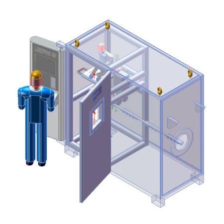 Рентгенотелевизионная система контроля сварных швов тонкостенных чехлов X.P.I. 150