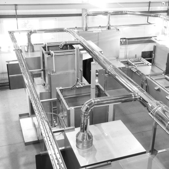 Система подачи воздуха в линии капиллярного контроля Элитест ЛК-500
