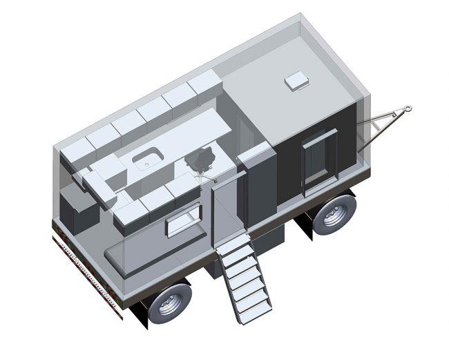 Камера радиационной защиты АРИОН-20.17.20.08/2 в составе мобильной лаборатории